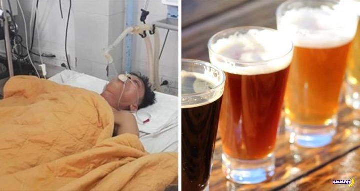 В больнице в больного залили 5 литров пива