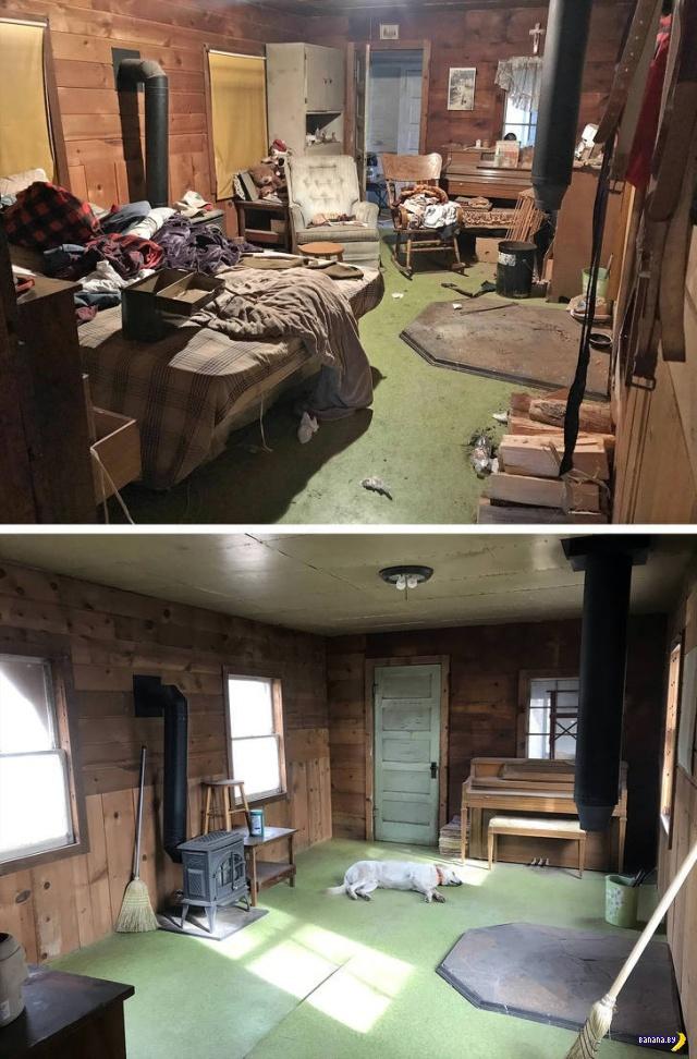 До и после чистки