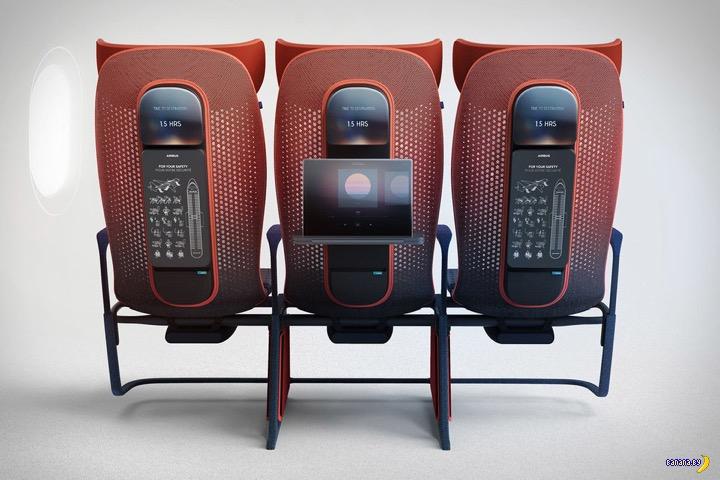 Концепт новых пассажирских сидений для Airbus