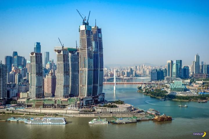 """В Китае заканчивают строительство """"горизонтального небоскрёба"""""""