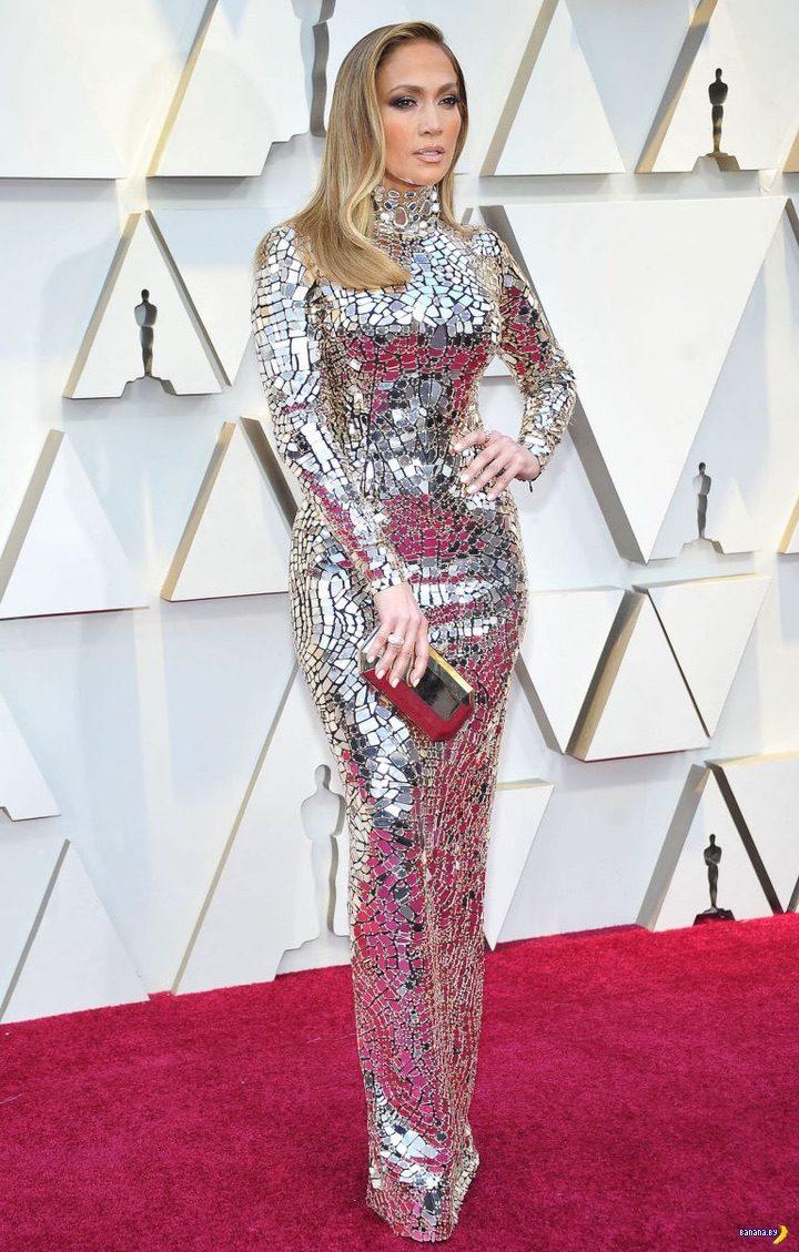 Джей Ло на Оскаре и после!