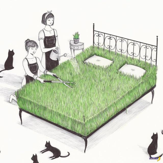 Рисунки со смыслом от Virginia Mori