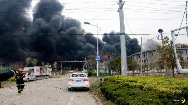 В Китае взорвался завод