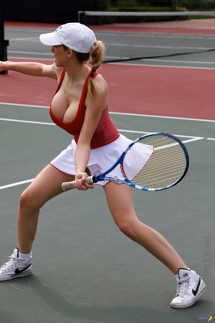 Теннисистки с сиськами видео мун