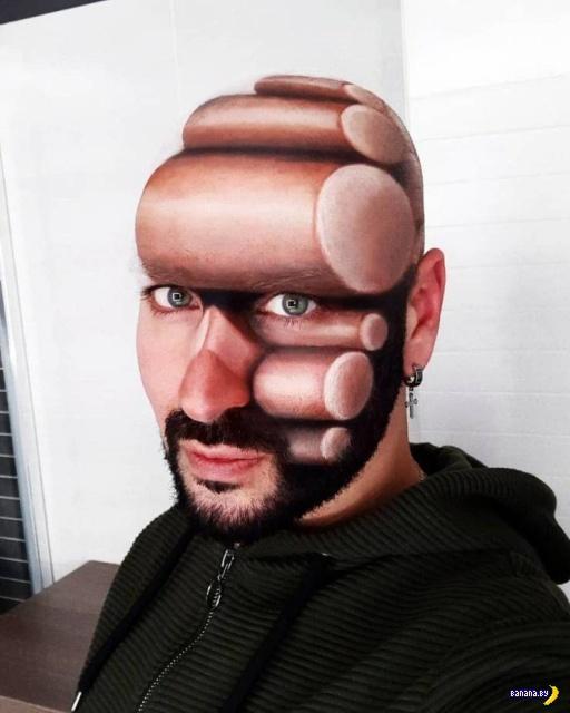 3D-иллюзии при помощи макияжа