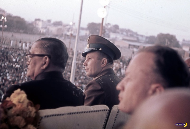 Юрий Гагарин в Индии –редкие фото
