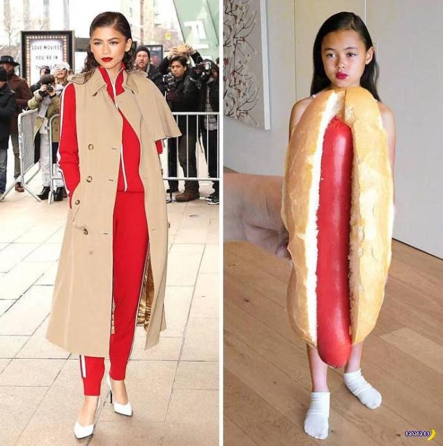 9-летняя пародистка и еда