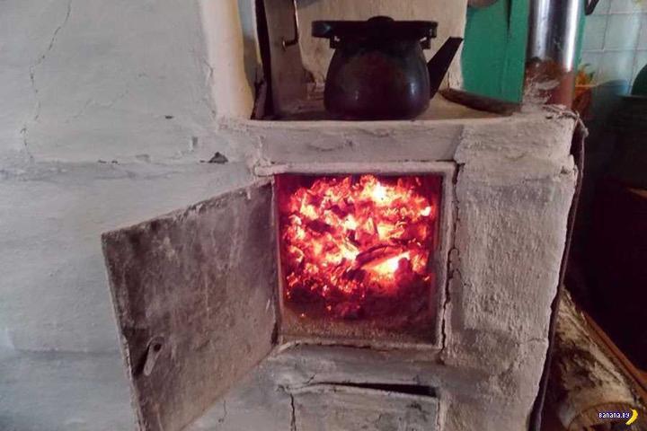 Дед запихнул внука в горящую печь