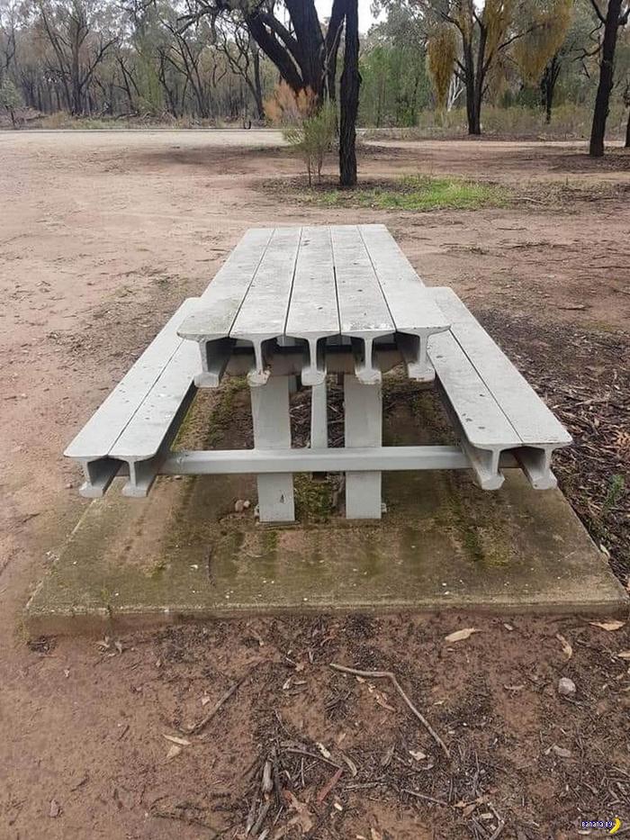 Столик для пикников, который не получится сломать!