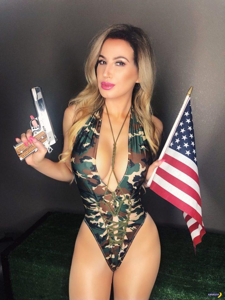 Ана Брага с пистолетом!