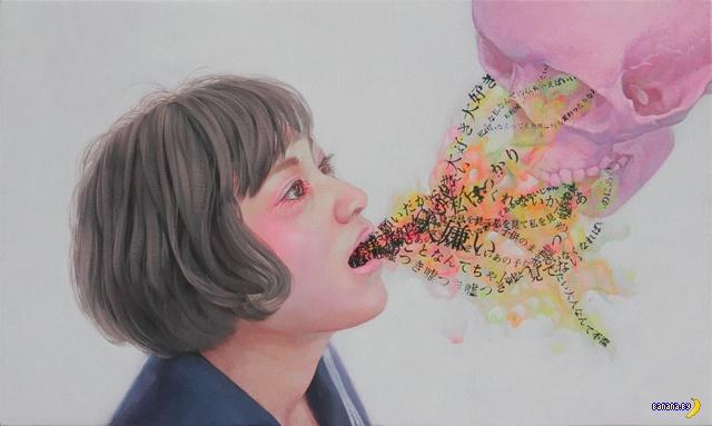 Школьницы и нездоровый арт Казухиро Хори