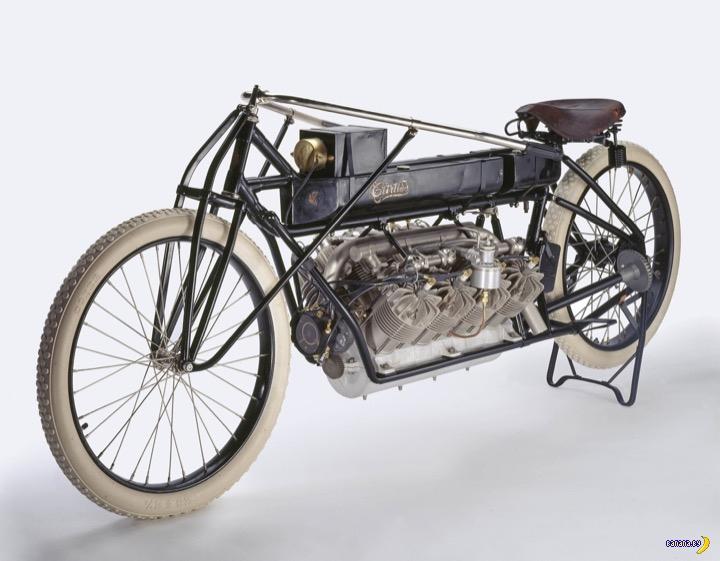 Мотоцикл Curtiss V-8 и его рекорд
