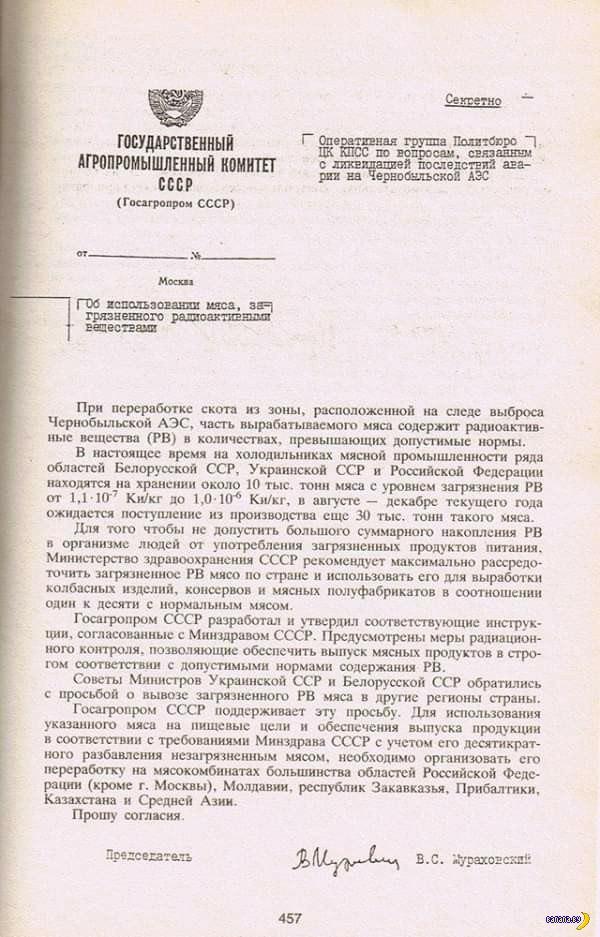 Радиоактивная советская колбаса