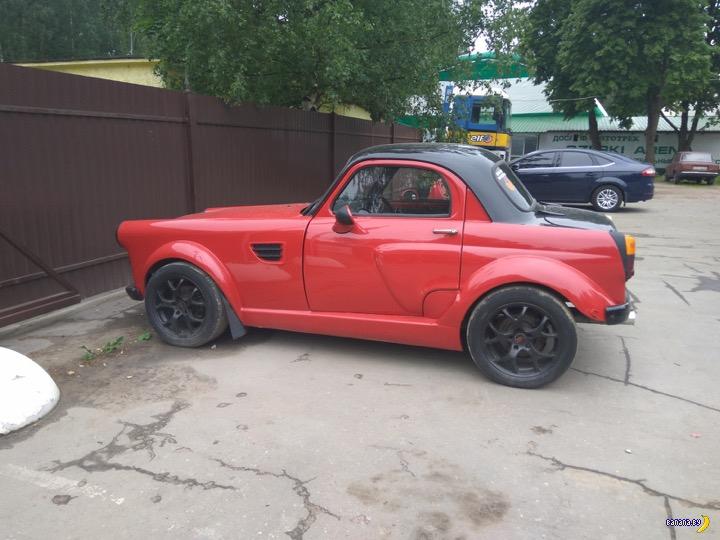 Тотально изуродованный Москвич-407