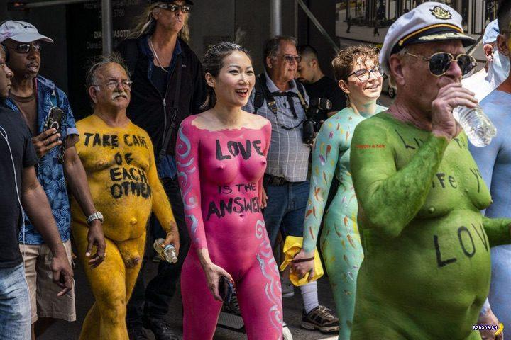 Голые и разноцветные в Нью-Йорке