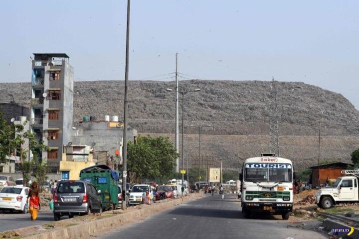 Свалку в Нью-Дели снабдят сигнальными огнями