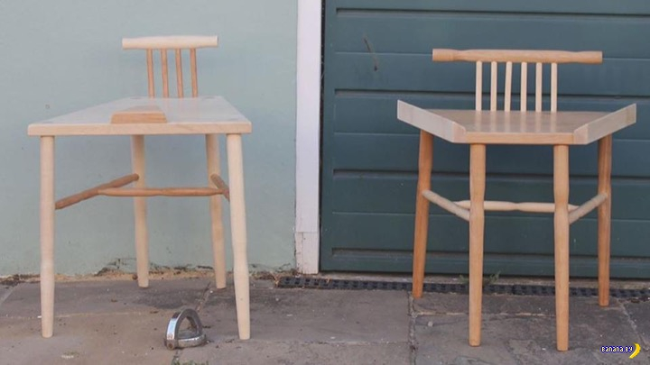 Феминистка изобрела стулья!