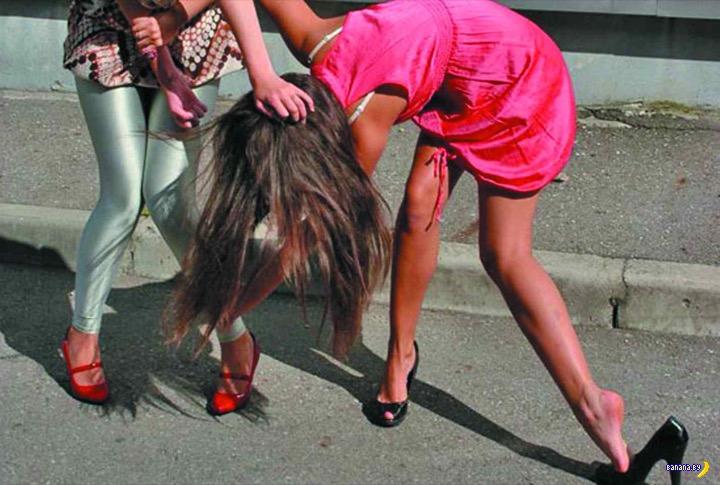 Отчаянные девичьи драки!