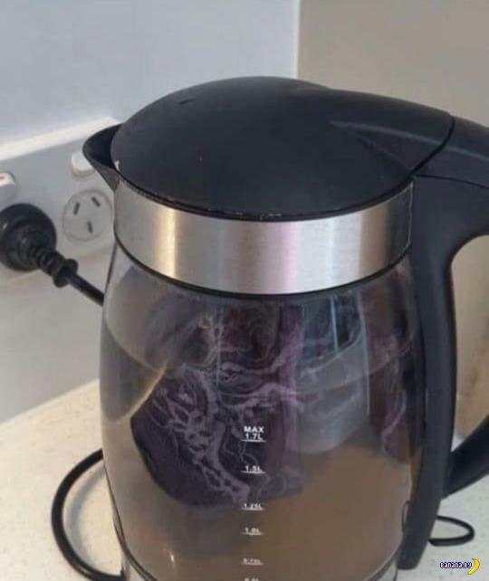 Неожиданное использование чайника в отеле