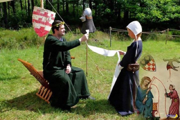 Как в средневековых книгах