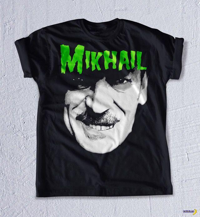 Малежик и другие на брутальных рок-футболках