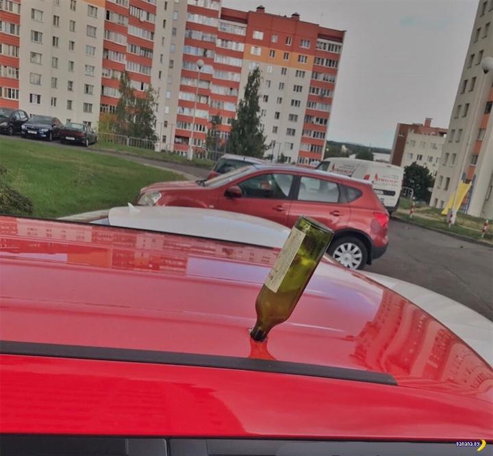 Внезапный сюрприз на крыше автомобиля