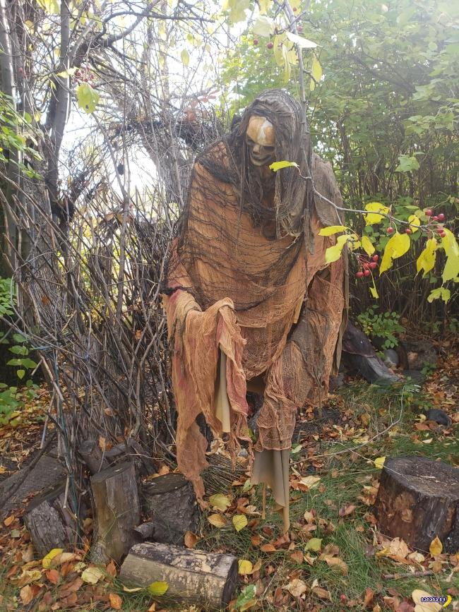 Украсить двор на Хэллоуин своими руками