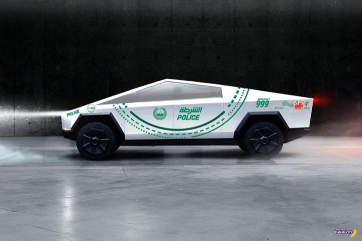 Tesla Cybertruck поступит на службу в полицию Дубая