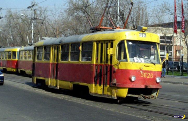 Трамвай Tatra T3 в версии купе и с пивом!