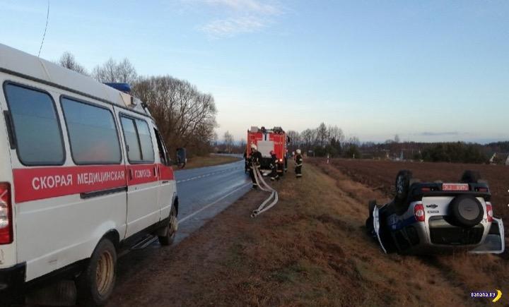 В Беларуси начали опрокидываться машины милиции
