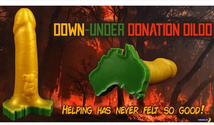 Пожары в Австралии тушат резиновыми членами