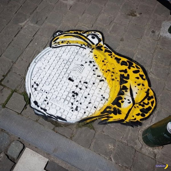 Остроумный стрит-арт от OakOak