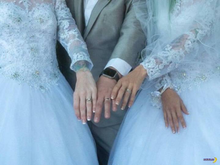 Американец женился на двух девушках сразу