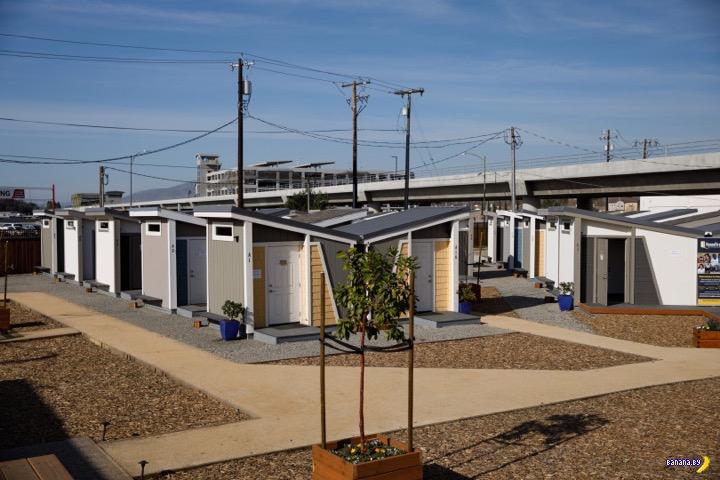 В Сан-Хосе построили посёлок для бомжей