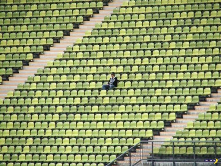 Подлый Киоши на стадионе