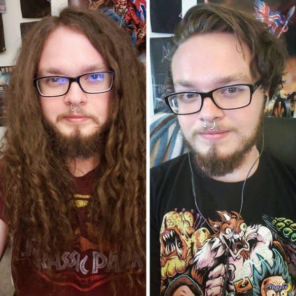 Барбершоп: до и после