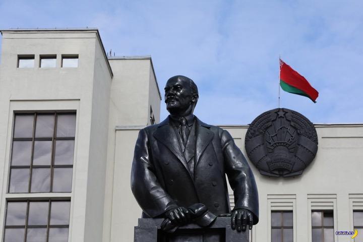 Главный Ленин Минска стал черным!