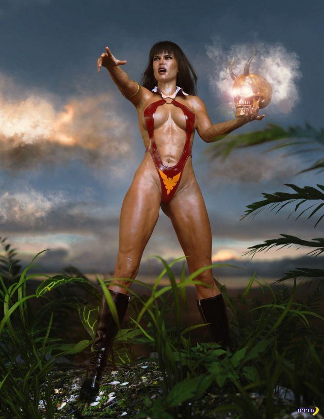 Какой-то странный фетиш с 3D-амазонками