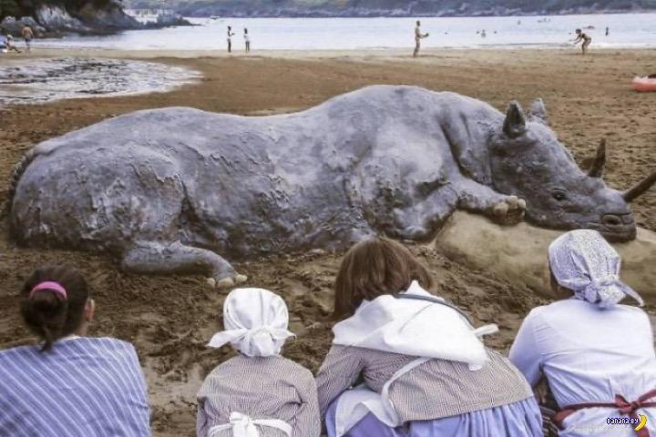 Andoni Bastarrika и пляжный песок