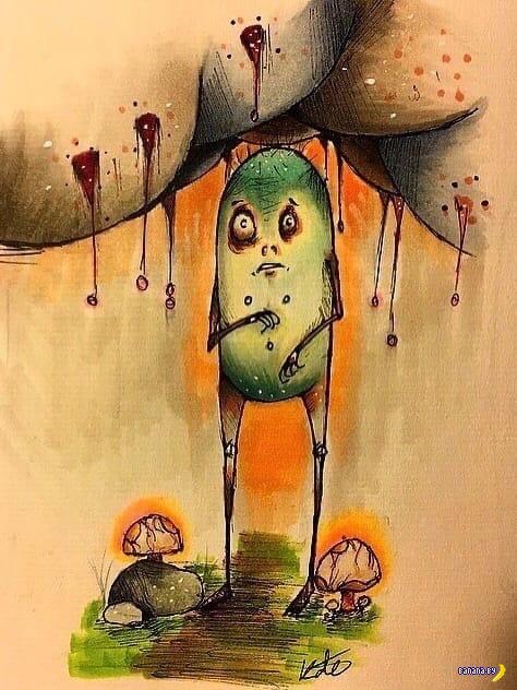 Рисунки 17-летней девочки с шизофренией