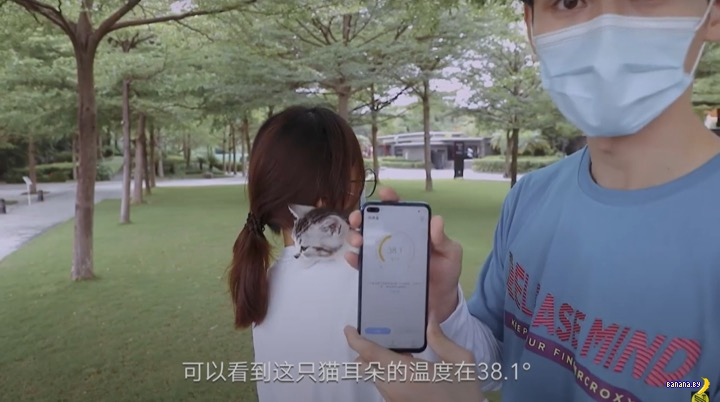 Смартфон Honor Play 4 Pro измеряет температуру тела
