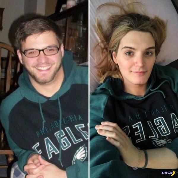 Трансы до и после перехода