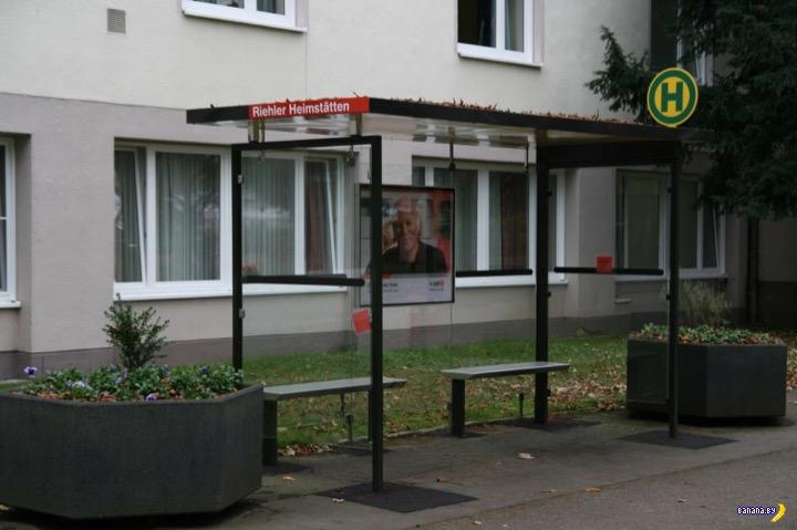 Scheinbushaltestelle –поддельные остановки в Германии