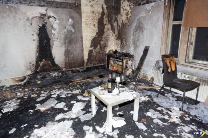 Романтик сжег квартиру