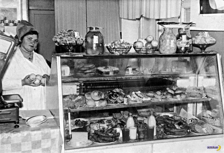 СССР 1974: буфет и меню из рыбного ресторана
