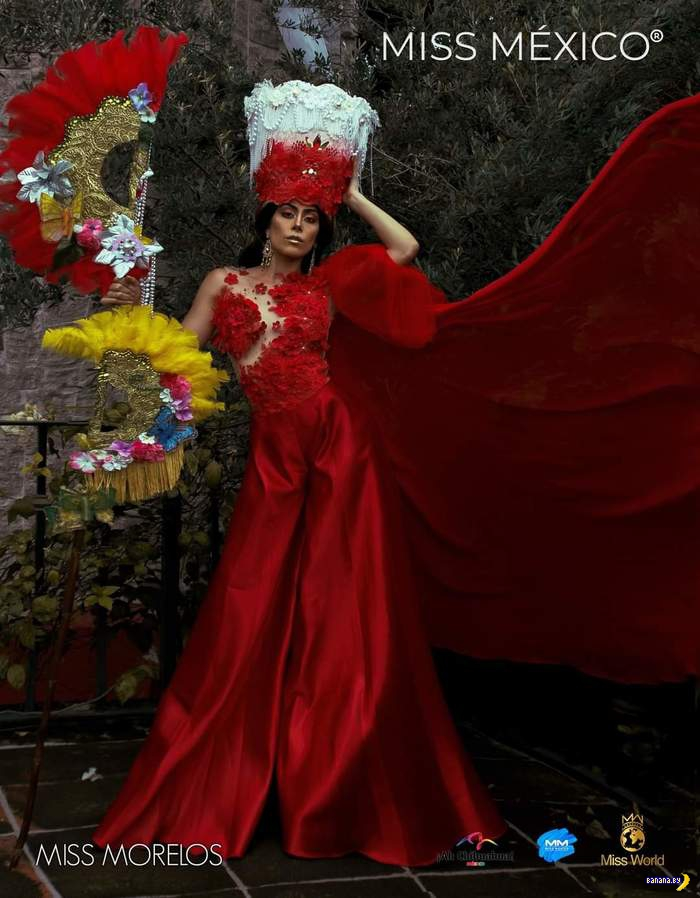 Традиционные костюмы с Мисс Мексика 2020