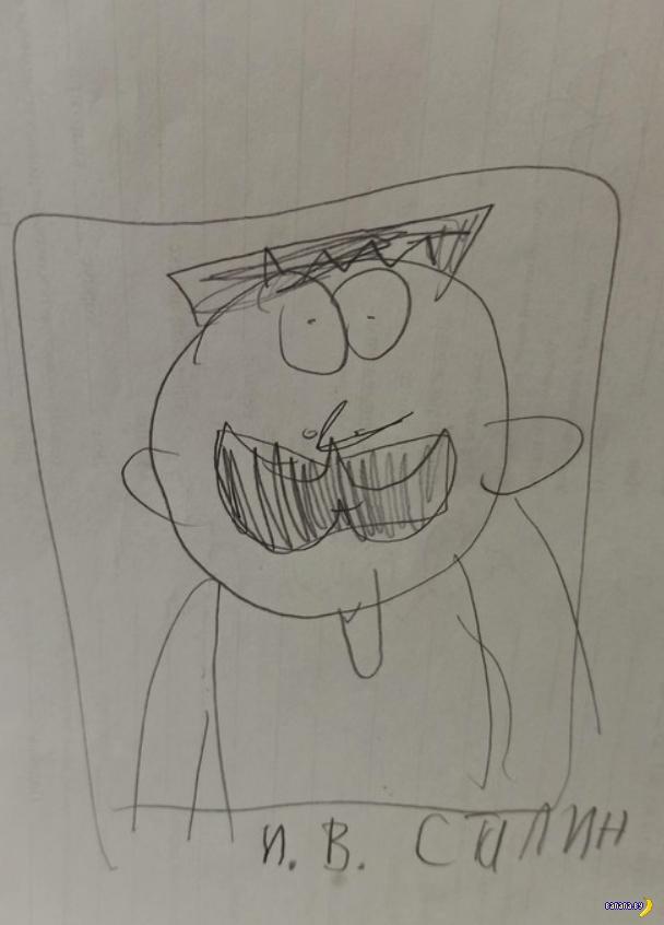 Батя доводит до ума рисунки сына