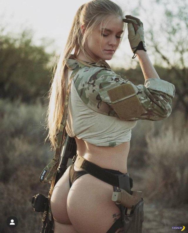 Криста Шипман –солдатка и модель