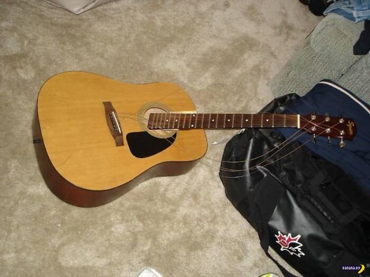 Ситуация с гитарой и нянькой