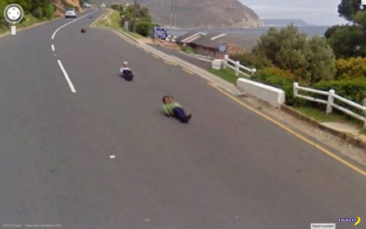 Странные моменты на Google Street View